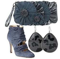 Dark blue boots accessories