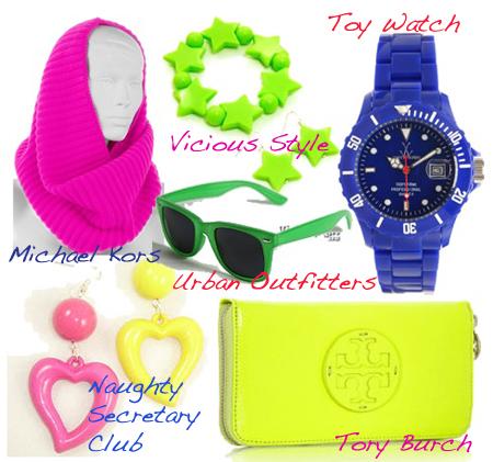 80s accessories brights
