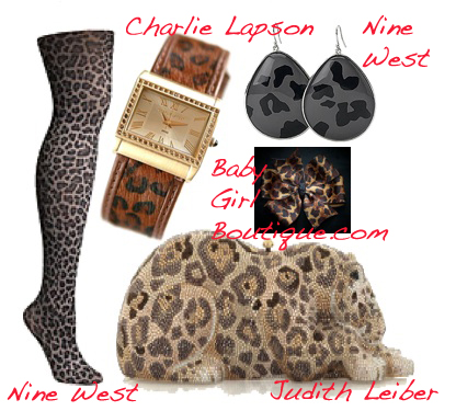 80s accessories leopard