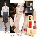 Ysl runway beauty fall 2009