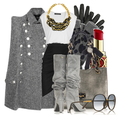 Gray grey cape fall fashion