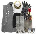 Gray grey cape fall fashion