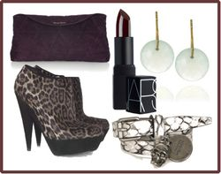 Dark purple accessories