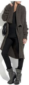 Rick owens brown alpaca duster knit