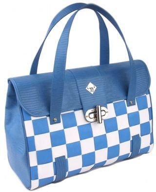 Blue white izzy shoulder bag