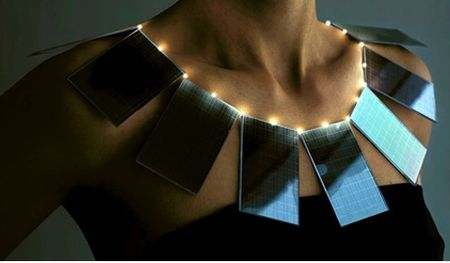 Solar panel eco chic necklace
