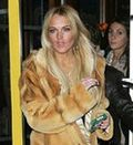 Lindsay lohan stolen fur coat