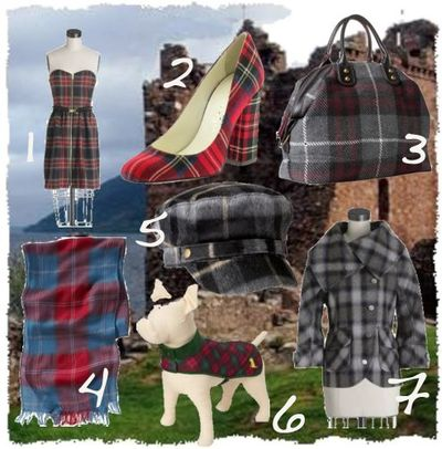 Plaid tartan accessories dresses