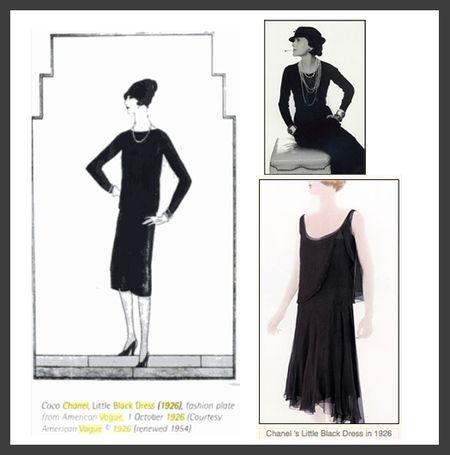 Chanel lbd 1926 vogue