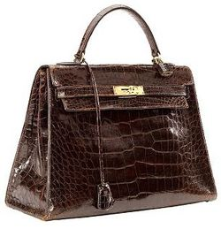 Hermes croc kelly bag