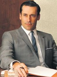 Don draper elegant suit