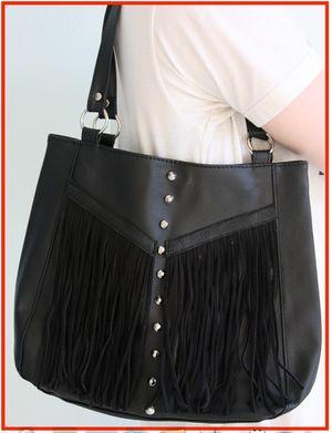 Studs fringe diy project bag handbag