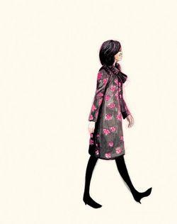Michelle obama illustration fashion