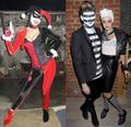 Fashion models' halloween costumes