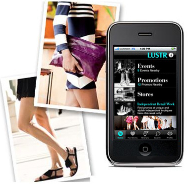 Luster iphone fashion app application