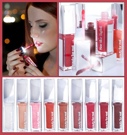 Beauty for real illuminated lip gloss