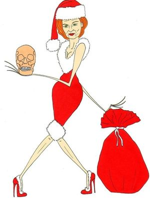 Vivienne westwood christmas fashion illustration