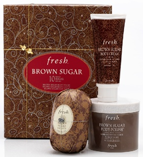 Fresh brown sugar bath body scrub shower gel