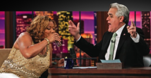 Queen latifah birthday patron jay leno