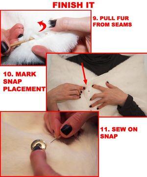 Sew faux fur shrug wrap stole