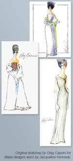 Oleg cassini jackie kennedy fashion illustrations