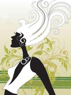 Beautiful hair illustration
