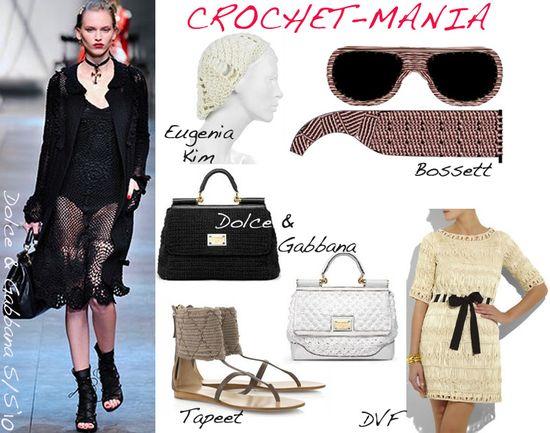 Crochet fashion accessories trend