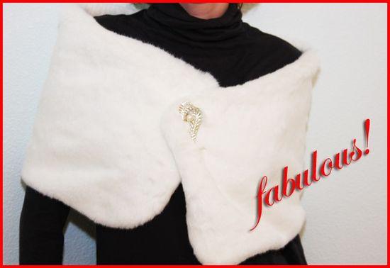 Fabulous faux fur vest stole wrap