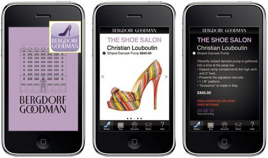 Bergdorf goodman shoe salon iphone app