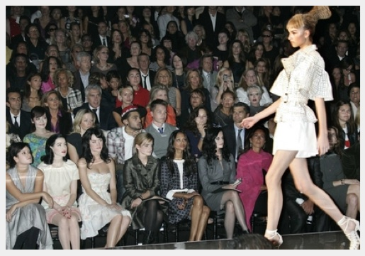 Celebs in fashion show front row