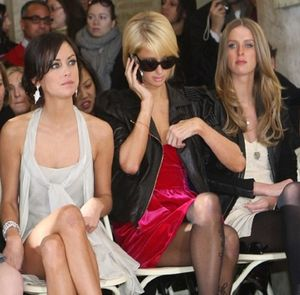 Paris hilton fashion week front row