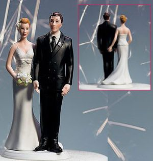 Cheeky wedding cake topper