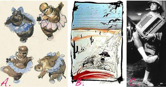 Fantasia hippo ballet ralph steadman bats