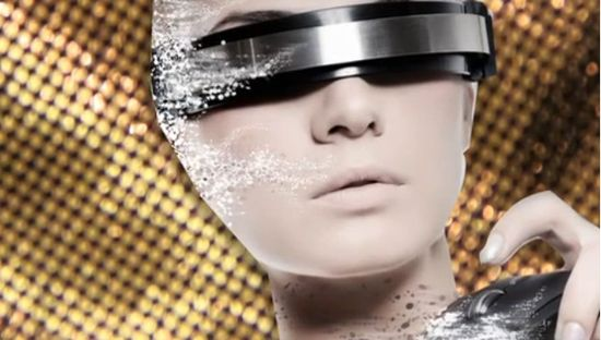 Techno chic future fashion