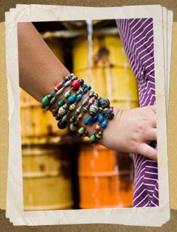 Handmade recycled beads uganda 31 bits