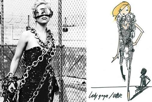 Lady gaga telephone video viktor rolf jumpsuit