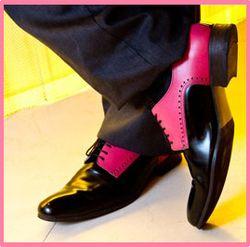 John fluevog two tone mens shoes