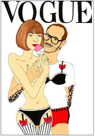 Terry richardson anna wintour vogue parody fashion illustration