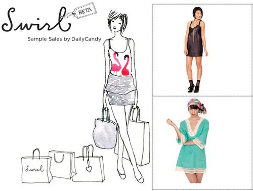 Swirl daily candy fashion sample sales