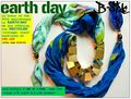 B side design recycled silk scarf accessory
