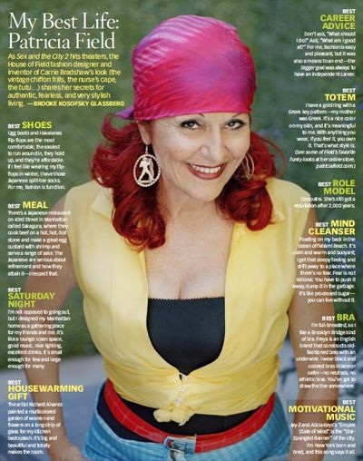 Patricia field best life advice oprah magazine