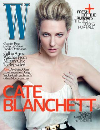 Cate blanchett w magazine cover