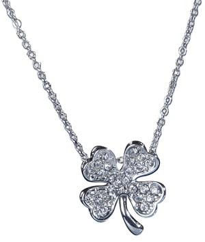 Patricia field four leaf clover pendant