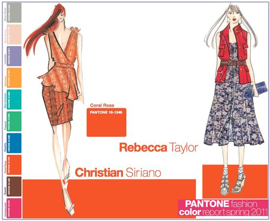 Pantone fashion color report spring 2011 coral rose