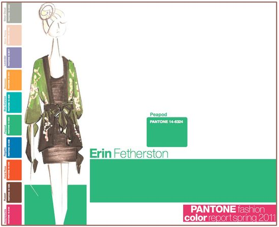 Pantone fashion color report spring 2011 peapod green