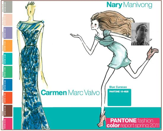 Pantone fashion color report spring 2011 curacao blue