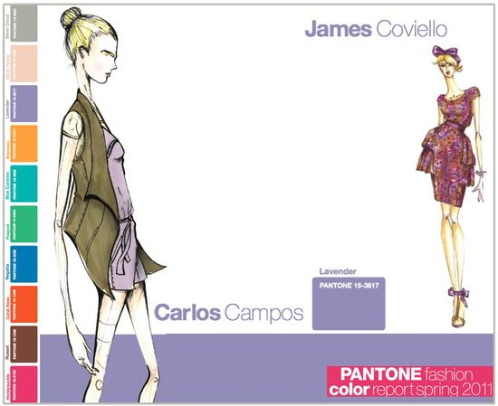 Pantone fashion color report spring 2011 lavender