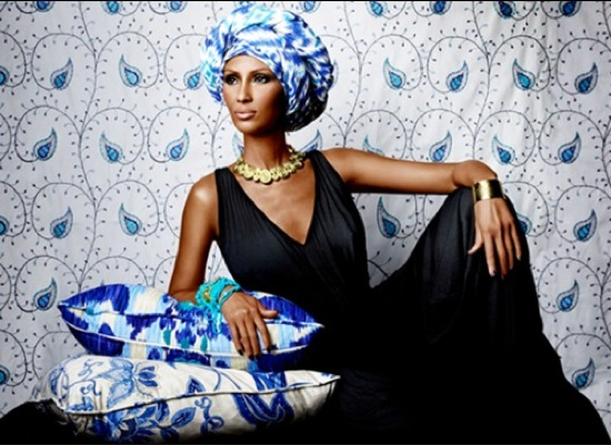 Iman lounging home decor line