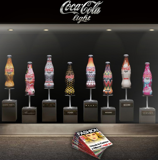 Coca cola light diet coke fashion designer bottles