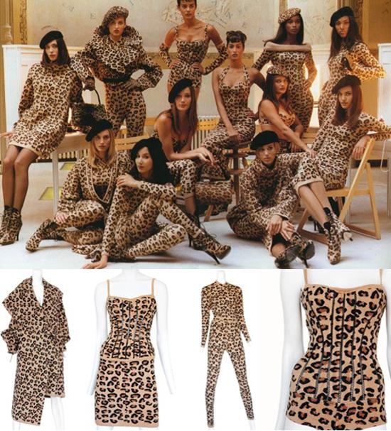 Azzedine alaia vintage leopard prints